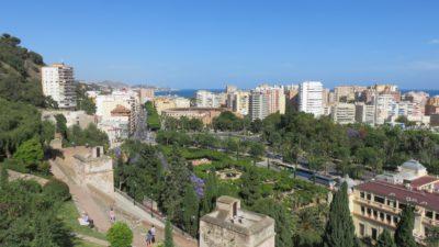Vue sur Malaga depuis l'Alcazaba