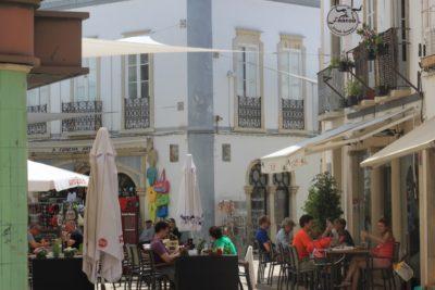 Les rues piétonnes de Faro