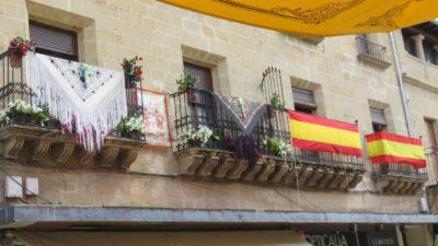 Les fêtes du Corpus Christi avec les façades décorées