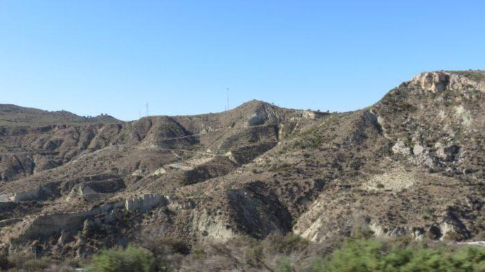 Sur la route entre Cabo de Gata et Cambrils