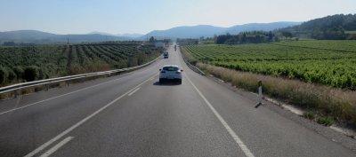 La route du retour entre Cambrils et Crolles
