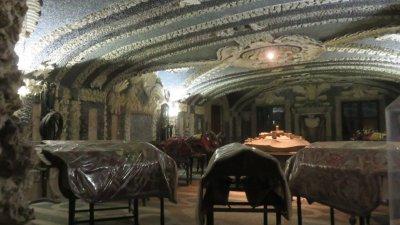 Le sous sol du palais d'Isola Bella (îles Borromées)