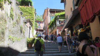 Les rues montantes de Bellagio - Lac de Côme