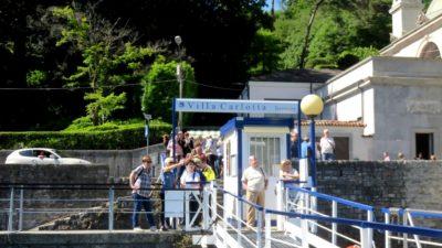 Débarcadère de la villa Carlotta - lac de Côme