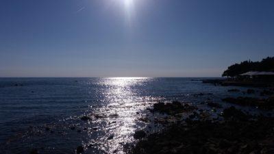 La mer en fin d'après midi à Umag
