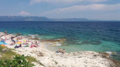 Les plages de Rabac (Istrie)