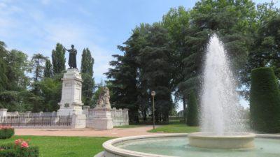 La statue de Virgile à Mantoue