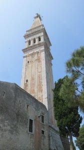 Le campanile de l'église Ste Euphémie à Rovinj