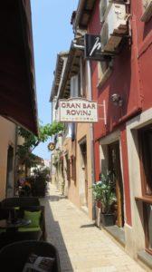 Les ruelles étroites de Rovinj