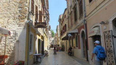 Les rues de la vieille ville à Pula