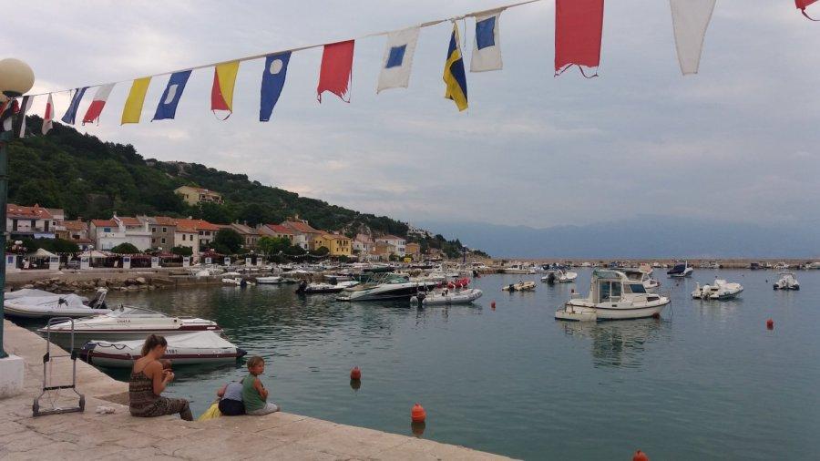 Le port de Baska - île de Krk (Croatie)