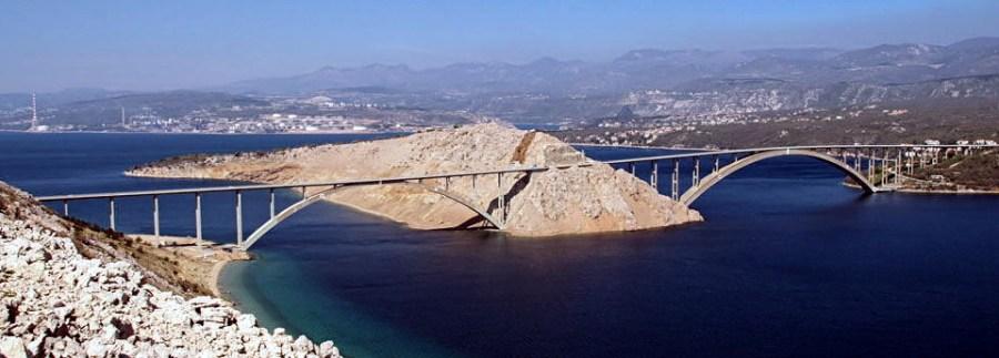 Krčki Most - Le pont de l'île de Krk (Croatie)