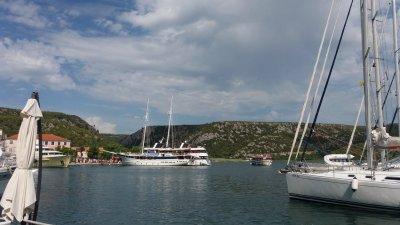 Le port de Skradin - Croatie