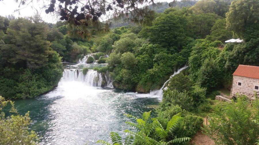 chutes d'eau dans le parc de Krka - Croatie
