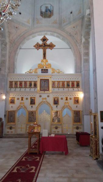 Dans l'église St Spyridon de Skadin - Croatie