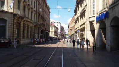 Rue piétonne du centre ville - Zagreb