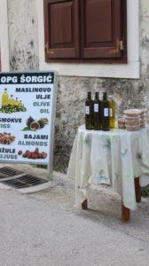 Huile d'olive locale à Skradin - Croatie