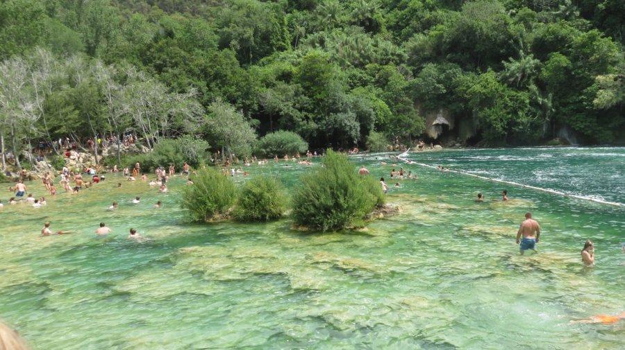 La piscine naturelle du parc de Krka - Croatie