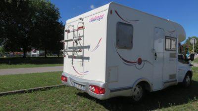 Sur notre aire de camping-car au lac Jarun - Zagreb