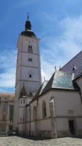 Le clocher de l'église St Marc - Zagreb