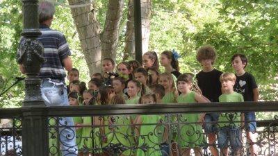 Animation d'une chorale dans le parc de Zrinjevac - Zagreb