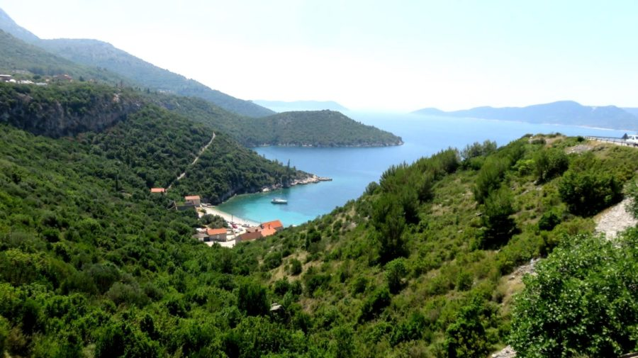 Belle plage entre Slano et Trsteno - Croatie