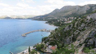 Vue entre Dubrovnik et Gruda