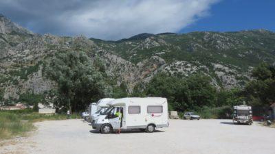 Aire de camping-car à Kotor - Monténégro