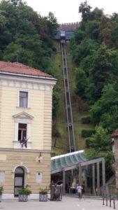 Le funiculaire du château de Ljubljana - Slovénie