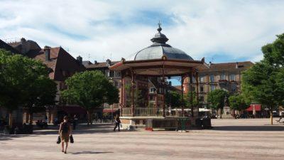 La place centrale de Belfort