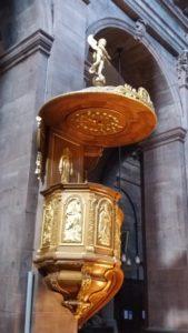 Chaire dans l'église St Christophe de Belfort