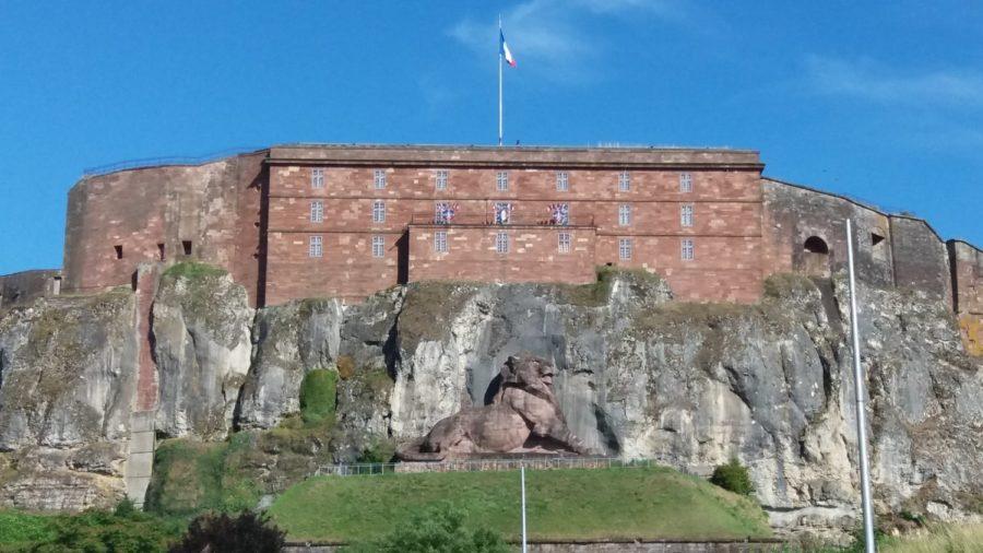 Le lion de Belfort sur la citadelle