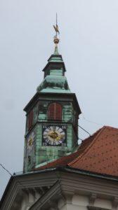 La tour de l'hôtel de ville de Ljubljana - Slovénie