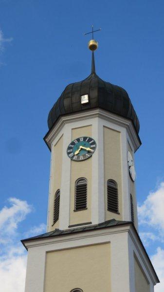 Le clocher de l'église de Zusmarshausen - Allemagne