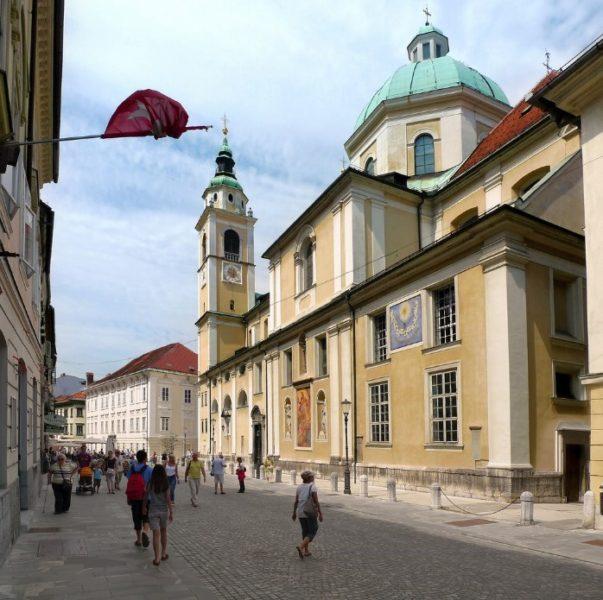 La cathédrale St Nicolas de Ljubljana - Slovénie