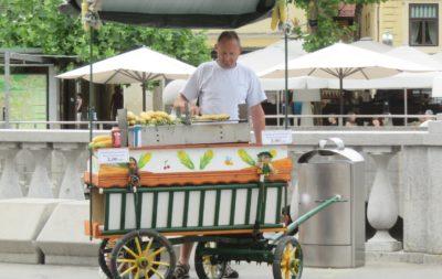 Vendeur de maïs - Ljubljana
