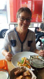 Déjeuner dans un resto du centre ville de St Denis (Réunion)