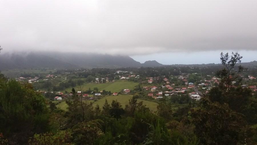 Vue sur la Plaine des Palmistes depuis le Piton des Songes (Réunion)