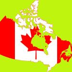 Carte drapeau Canada