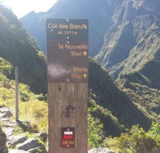 Panneau du col des Boeufs - Réunion