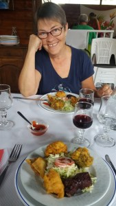 Au restaurant Ti Chouchou - Hell Bourg