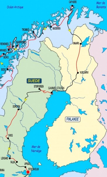 5ème partie Cap Nord - Stockholm