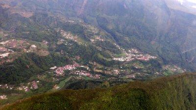 Survol en ULM de l'île de La Réunion