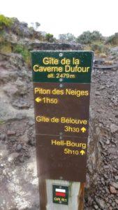 Au gite de la caverne Dufour - Piton des Neiges