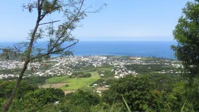 Vue sur St Joseph et la mer - Réunion