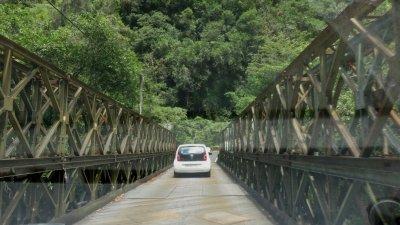 La passerelle - Rivière Langevin (Réunion)