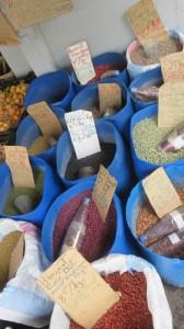 Epices locales au marché de Cilaos