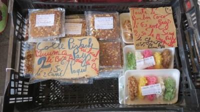 friandises locales au marché de Cilaos