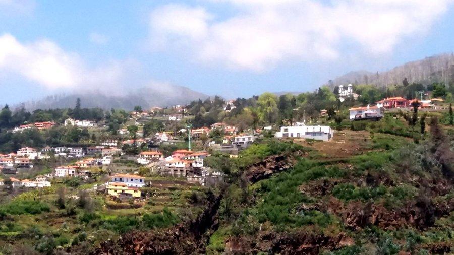 Vue sur les hauteurs de Monte depuis le jardin botanique