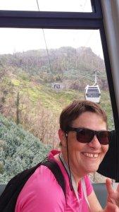Téléphérique entre le jardin botanique et le jardin Monte Palace - Funchal (Madère)